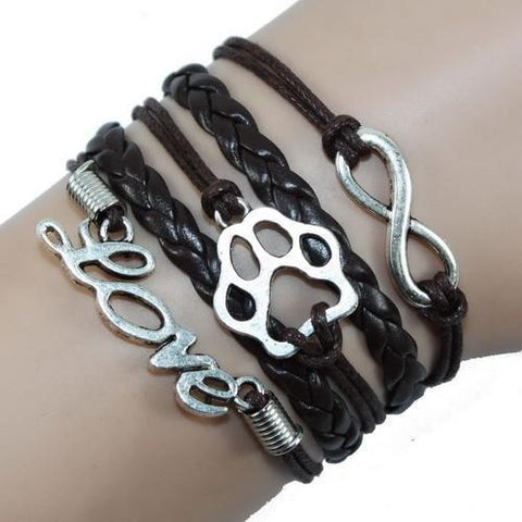 Jewelry Paw Bracelets brown