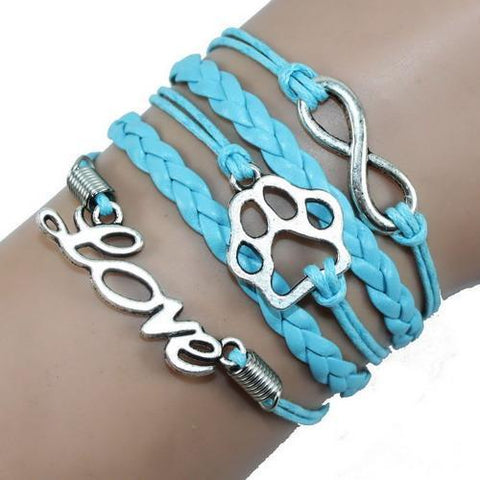 Jewelry Paw Bracelets light blue