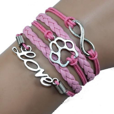 Image of Jewelry Paw Bracelets pink