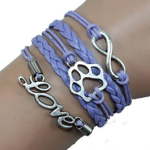 Jewelry Paw Bracelets purple