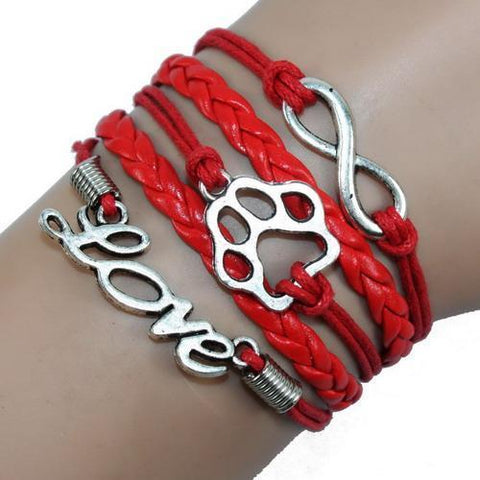 Jewelry Paw Bracelets red