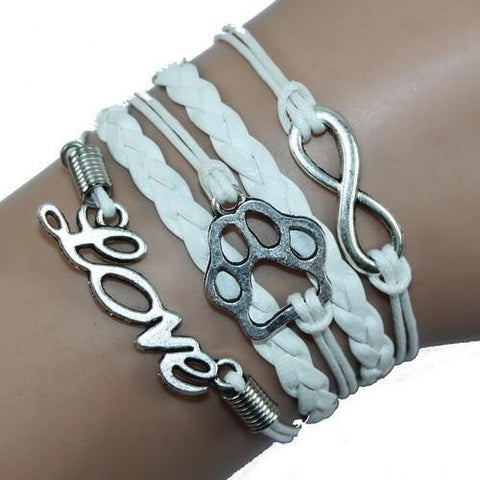 Jewelry Paw Bracelets white
