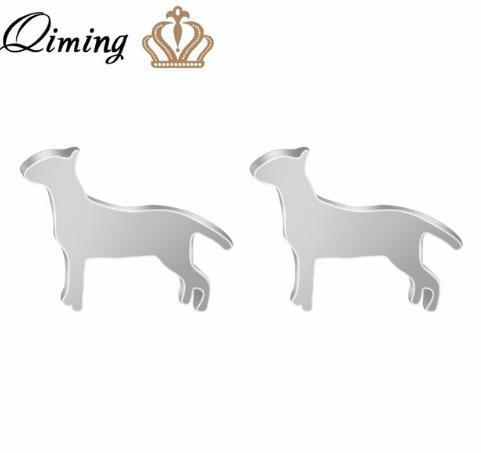 Jewelry Paw Earrings - Lovely Paw Dog Earrings Children Kids Jewelry Pet Lover Chihuahua Poodle Bulldog  Stud Earring Beagle