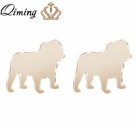 Image of Jewelry Paw Earrings - Lovely Paw Dog Earrings Children Kids Jewelry Pet Lover Chihuahua Poodle Bulldog  Stud Earring Bulldog