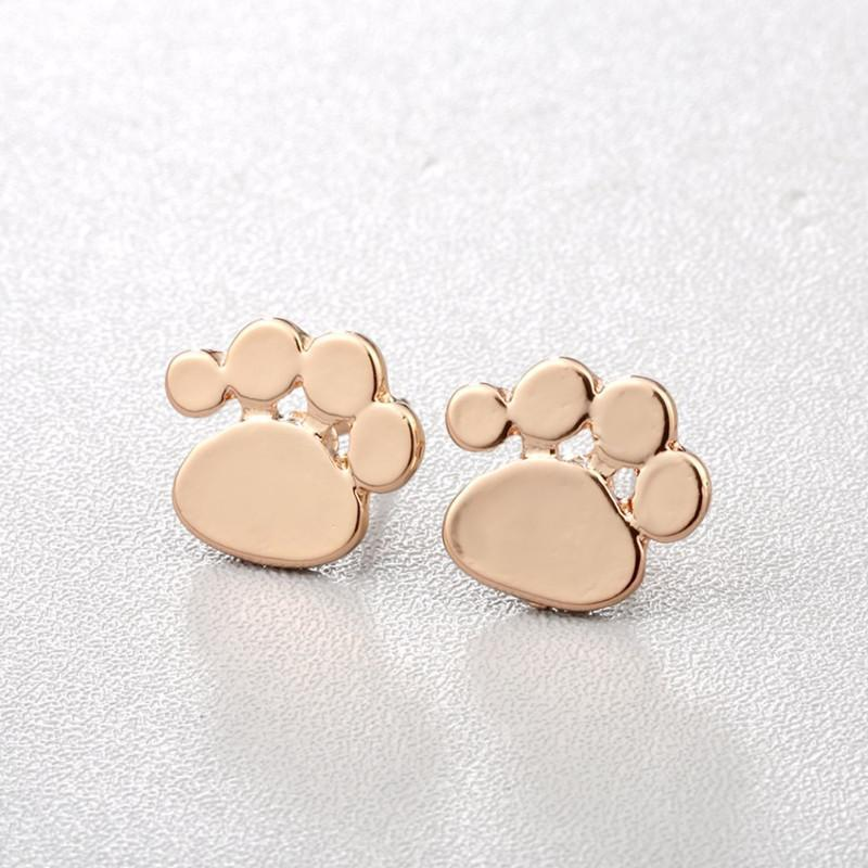 Jewelry Paw Earrings - Lovely Paw Dog Earrings Children Kids Jewelry Pet Lover Chihuahua Poodle Bulldog  Stud Earring Chihuahua