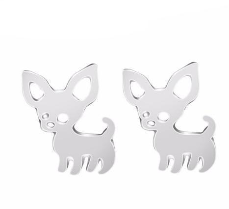 Image of Jewelry Paw Earrings - Lovely Paw Dog Earrings Children Kids Jewelry Pet Lover Chihuahua Poodle Bulldog  Stud Earring Chihuahua