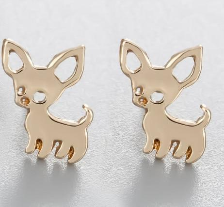 Jewelry Paw Earrings - Lovely Paw Dog Earrings Children Kids Jewelry Pet Lover Chihuahua Poodle Bulldog  Stud Earring Chihuahua-G