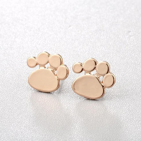 Image of Jewelry Paw Earrings - Lovely Paw Dog Earrings Children Kids Jewelry Pet Lover Chihuahua Poodle Bulldog  Stud Earring Cute paw-G