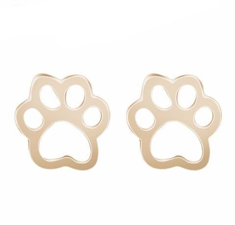 Image of Jewelry Paw Earrings - Lovely Paw Dog Earrings Children Kids Jewelry Pet Lover Chihuahua Poodle Bulldog  Stud Earring Paw