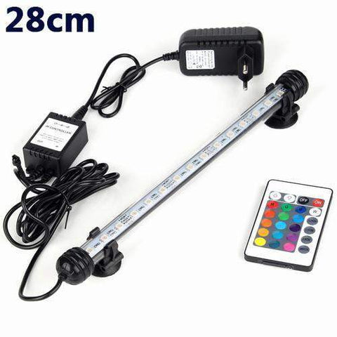 Image of Lightings Aquarium Fish Tank LED Light Remote Waterproof  LED Bar Light Lamp EU Plug 28CM