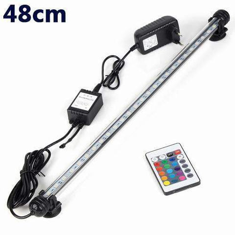 Image of Lightings Aquarium Fish Tank LED Light Remote Waterproof  LED Bar Light Lamp EU Plug 48CM