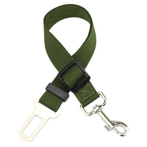 Image of Safety Dog Safety Car Seat Belt Army Green Seat Belt