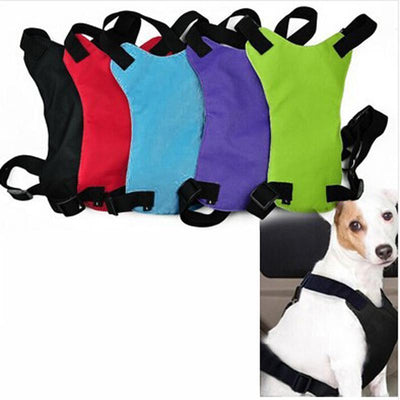 Safety Harness Safe Seat belt-Pet Car Seat Belt Dog Lead Leash Safety Vehicle Car Seat belt Black / S