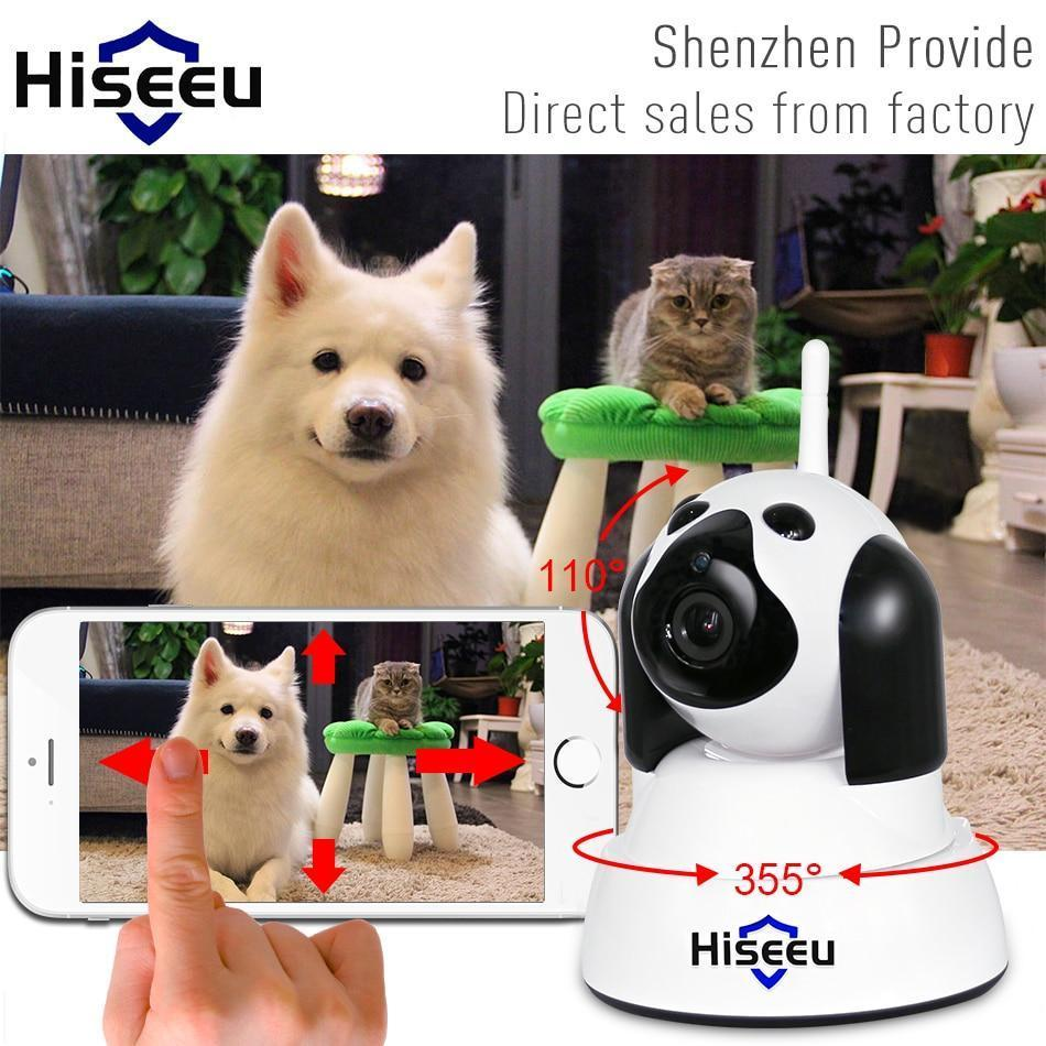 Safety Pet Camera-Home Security IP Camera Wi-Fi Wireless Smart Pet Dog wifi Camera video Surveillance 720P Night CCTV Indoor Baby Monitor White