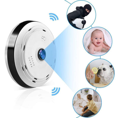 Safety Pet Camera-Two Way 360 Degree Panoramic Wifi Camera HD 1080P Security Camera Baby / Home Camera Monitor 1080P / 2.8mm