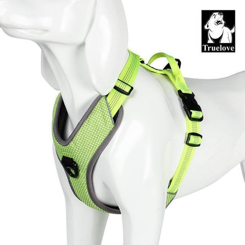 Image of Safety Reflective Dog Vest for Walks, Seat Belts, Adjustable Harness, and Sizes neon Yellow / XS chest 38-46cm