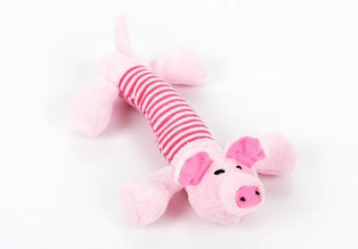 Toys Canvas Durability Vocalization Pet Chew Toys Pink Pig