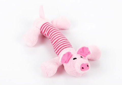 Image of Toys Canvas Durability Vocalization Pet Chew Toys Pink Pig