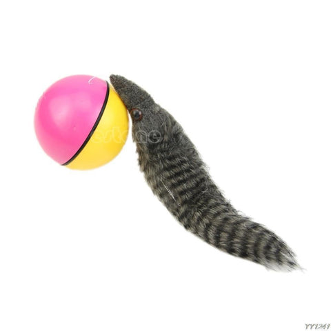 Image of Toys Dog Activation Ball Automatic Rolling Weasel Tail Mix Color