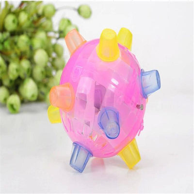 Toys Jumping Joggle Bopper (Flashing LED Dog Ball For Games) Random color 1pcs