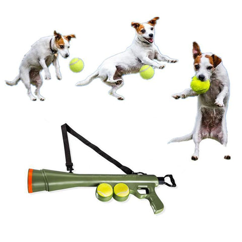 Pet Treat Launcher Pet Ball Dog Toy Funny Gun Toy Training Muzzle Catapult Incentive Tool