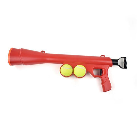 Toys Pet Treat Launcher Pet Ball Dog Toy Funny Gun Toy Training Muzzle Catapult Incentive Tool Red