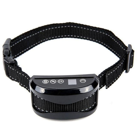 Training and behavior Anti-Bark Collar for Dogs (Rechargeable, Waterproof Collar) Black A