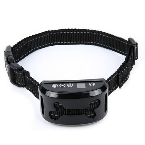 Training and behavior Anti-Bark Collar for Dogs (Rechargeable, Waterproof Collar) Black B