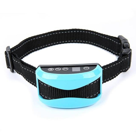 Training and behavior Anti-Bark Collar for Dogs (Rechargeable, Waterproof Collar) Blue A