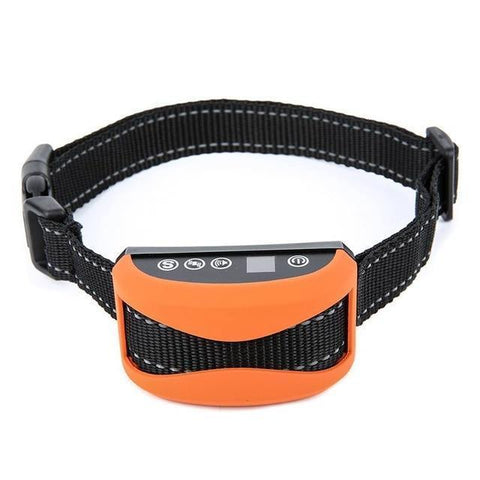 Training and behavior Anti-Bark Collar for Dogs (Rechargeable, Waterproof Collar) Orange A