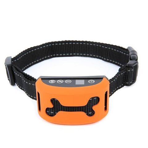 Training and behavior Anti-Bark Collar for Dogs (Rechargeable, Waterproof Collar) Orange B