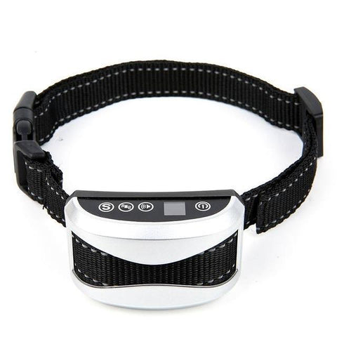 Training and behavior Anti-Bark Collar for Dogs (Rechargeable, Waterproof Collar) White A