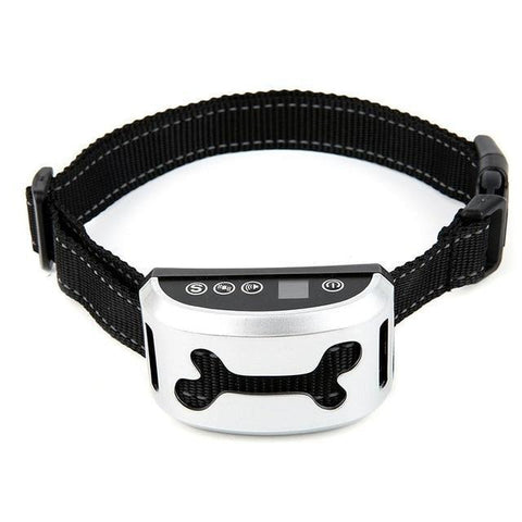 Training and behavior Anti-Bark Collar for Dogs (Rechargeable, Waterproof Collar) White B