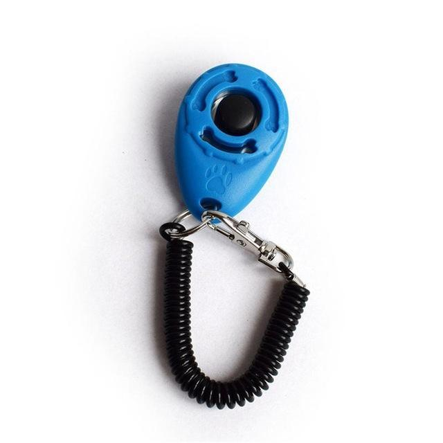 Training and behavior Bark Deterrent Dog Clicker (Key Dog Bark Deterrents Pet Training Teaching Aid Tools With Wrist Strap) Sky blue