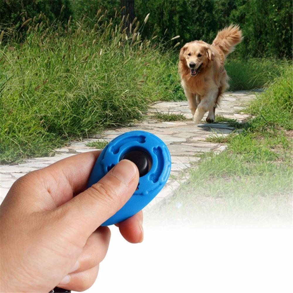 Training and behavior Bark Deterrent Dog Clicker (Key Dog Bark Deterrents Pet Training Teaching Aid Tools With Wrist Strap) White
