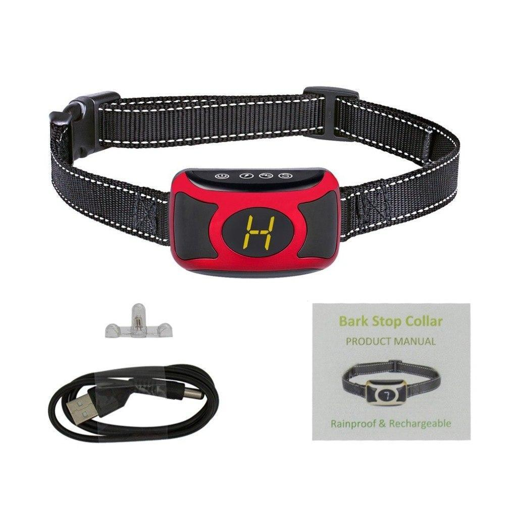 Training and behavior Digital Flashing Light Collar With Smart Chip Black