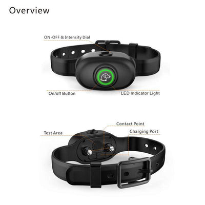 Training and behavior Electric Shock Anti-Bark Collar Black