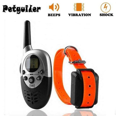 Training and behavior Training Behavior-Pet Dog Training Collar Pet Training Collar Dog Trainer Waterproof Rechargeable Remote Electric Shock Orange / US Adapter