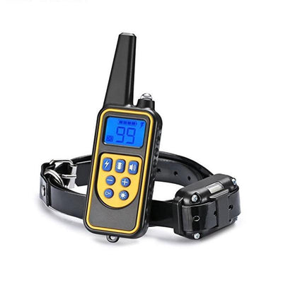 Training and behavior Training Behavior-Rechargeable Waterproof Electronic Dog Training Stop Barking LCD Display Remote Electronic Shock Collars US Plug