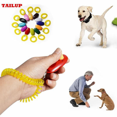 Training and behavior Training Behavior-Universal Remote Portable Animal Dog Button Clicker Sound Trainer Pet Training Tool Yellow
