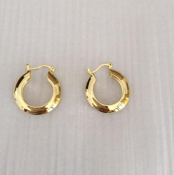 Cairo gold plated mini hoops