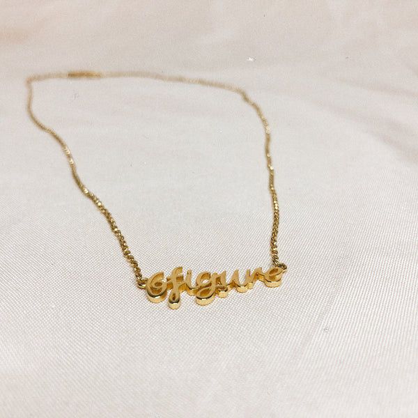 6figure Queen gold necklace