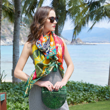 Flower Burst Silk Chiffon Wrap