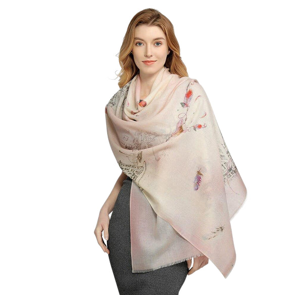 Pastel Fairytale Wool Shawl