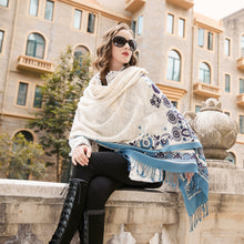 Santorini Blizzard Wool Shawl
