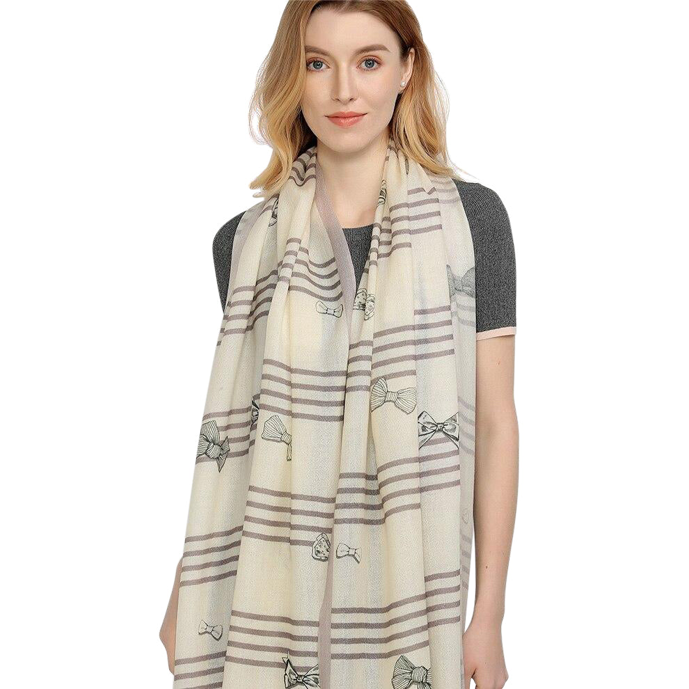 Striped Elegance Wool Scarf