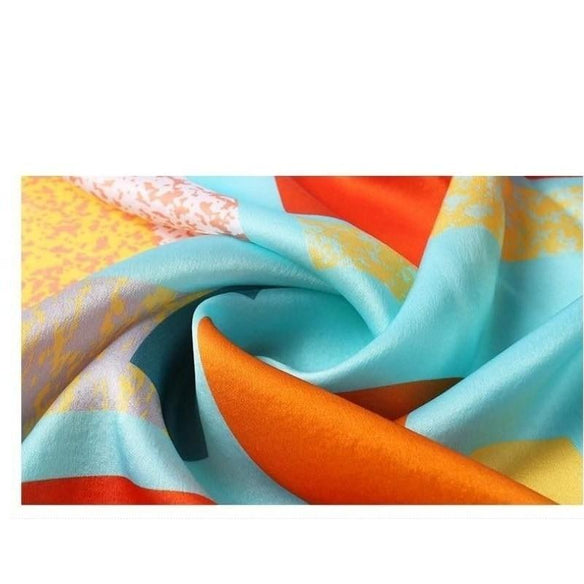 Abstract Art Square Silk Neckerchief
