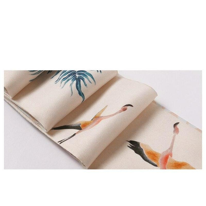 Bird of Paradise Skinny Silk Scarf