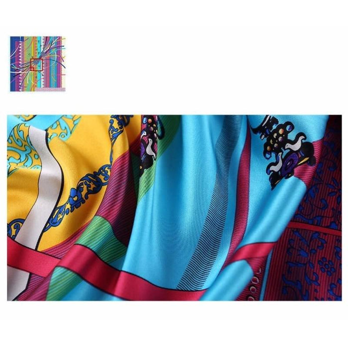 Celebration Square Silk Scarf