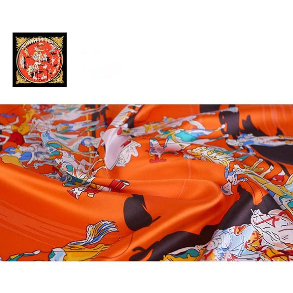Dress Circle Square Silk Scarf